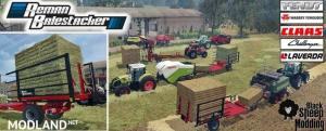 Pack Balestacker And Baler Attacher v 1.1 Fix Colors Wheels, 2 photo