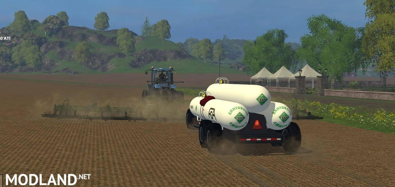 Triple Anhydrous Tank Wagon V 1.0 Mod For Farming