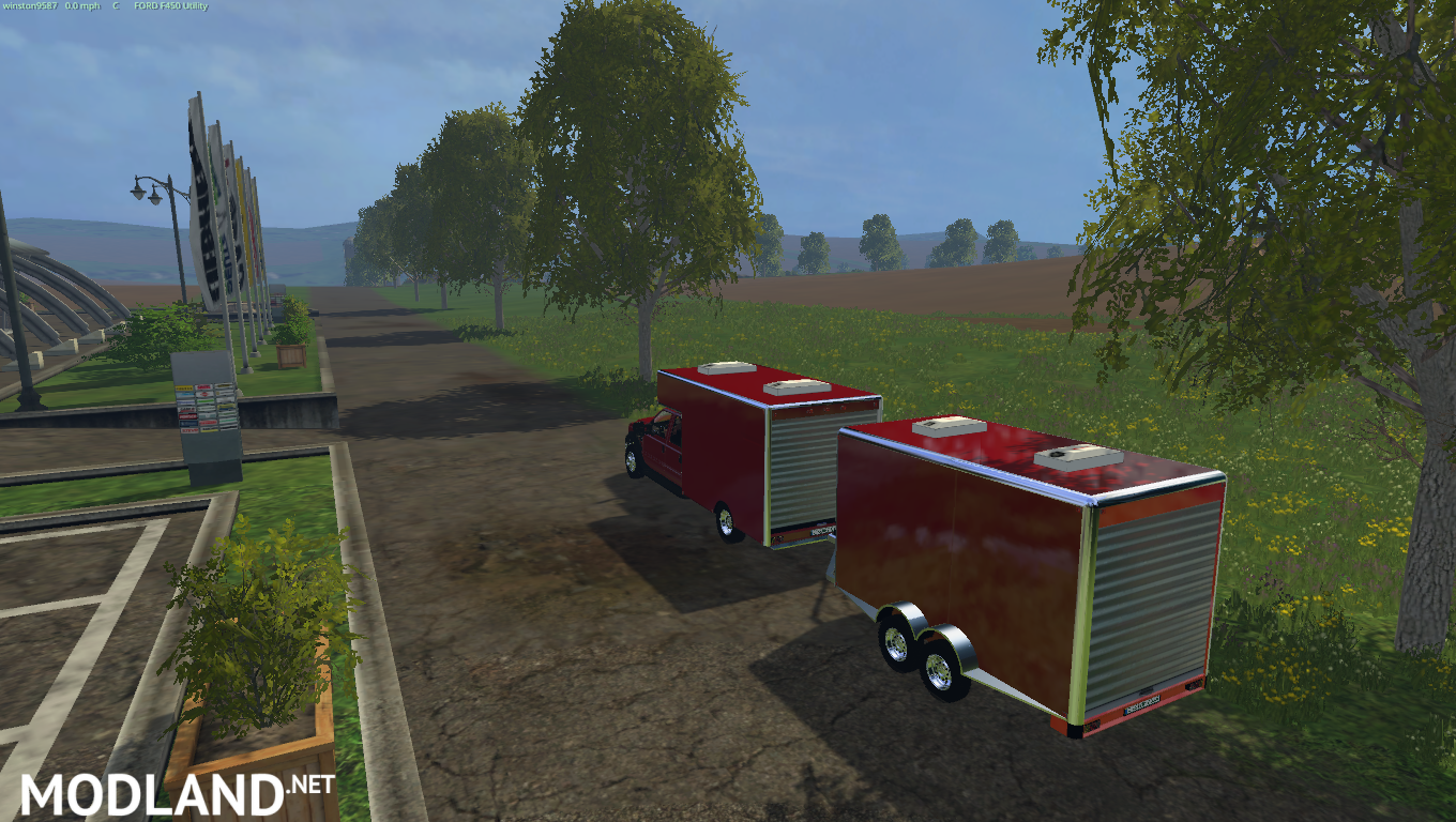Ford F450 Utility Truck and Trailer mod for Farming