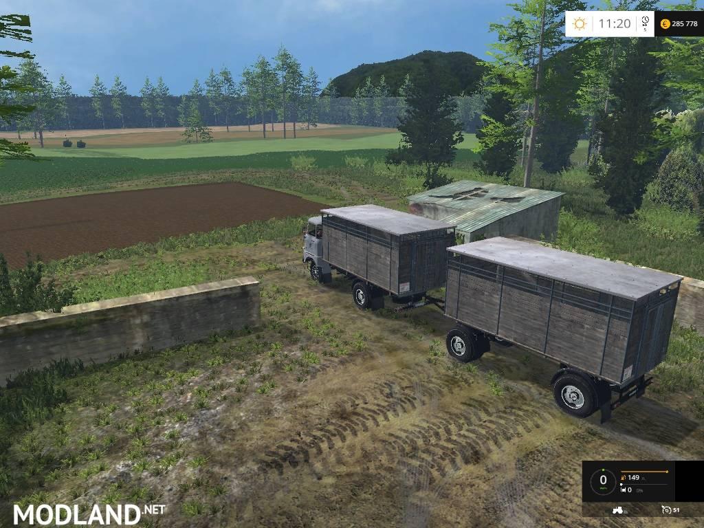Ifa W50 Tiertransport Pack Mod For Farming Simulator 2015