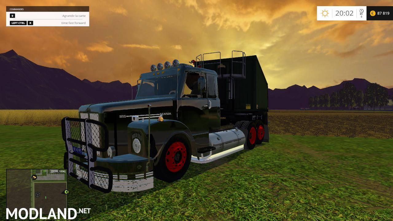 truck scania 111 mod for farming simulator 2015 15 fs ls 2015 mod. Black Bedroom Furniture Sets. Home Design Ideas