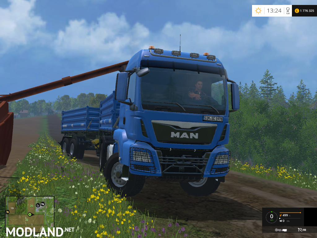 man tgs s dump truck with trailer v 1 4 mod for farming simulator 2015 15 fs ls 2015 mod. Black Bedroom Furniture Sets. Home Design Ideas