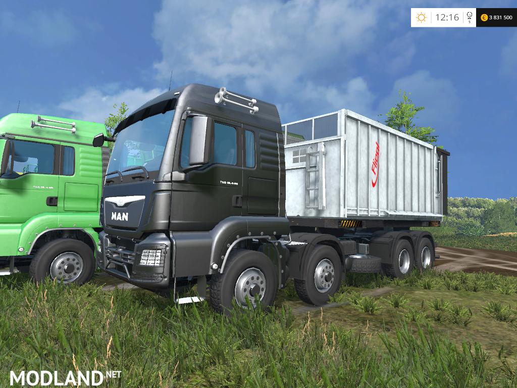 Man 8X8 Tipper Pack v 1 0 mod for Farming Simulator 2015