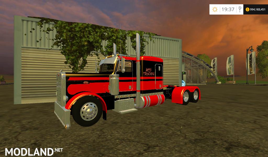Peterbilt Flat Top truck mod for Farming Simulator 2015 / 15