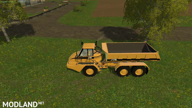 Cat 725A Dump Truck mod for Farming Simulator 2015 / 15 | FS