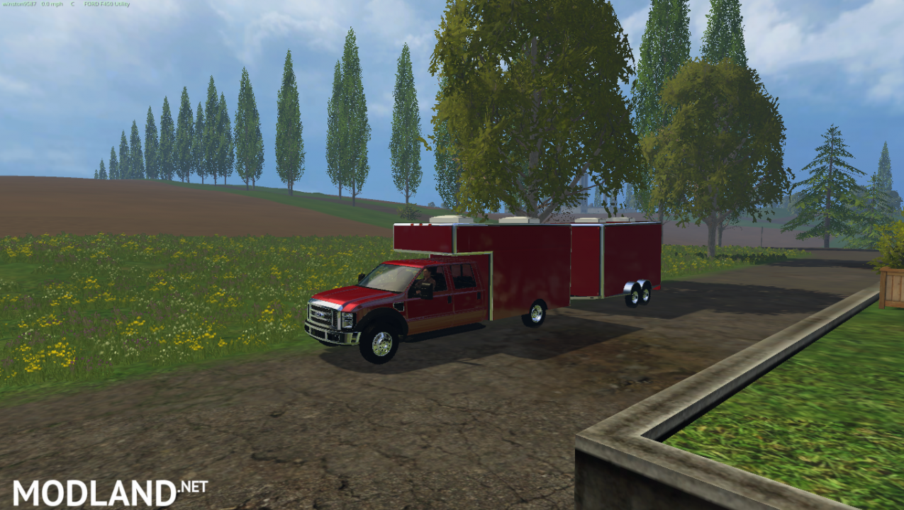 Ford F450 Utility Truck and Trailer