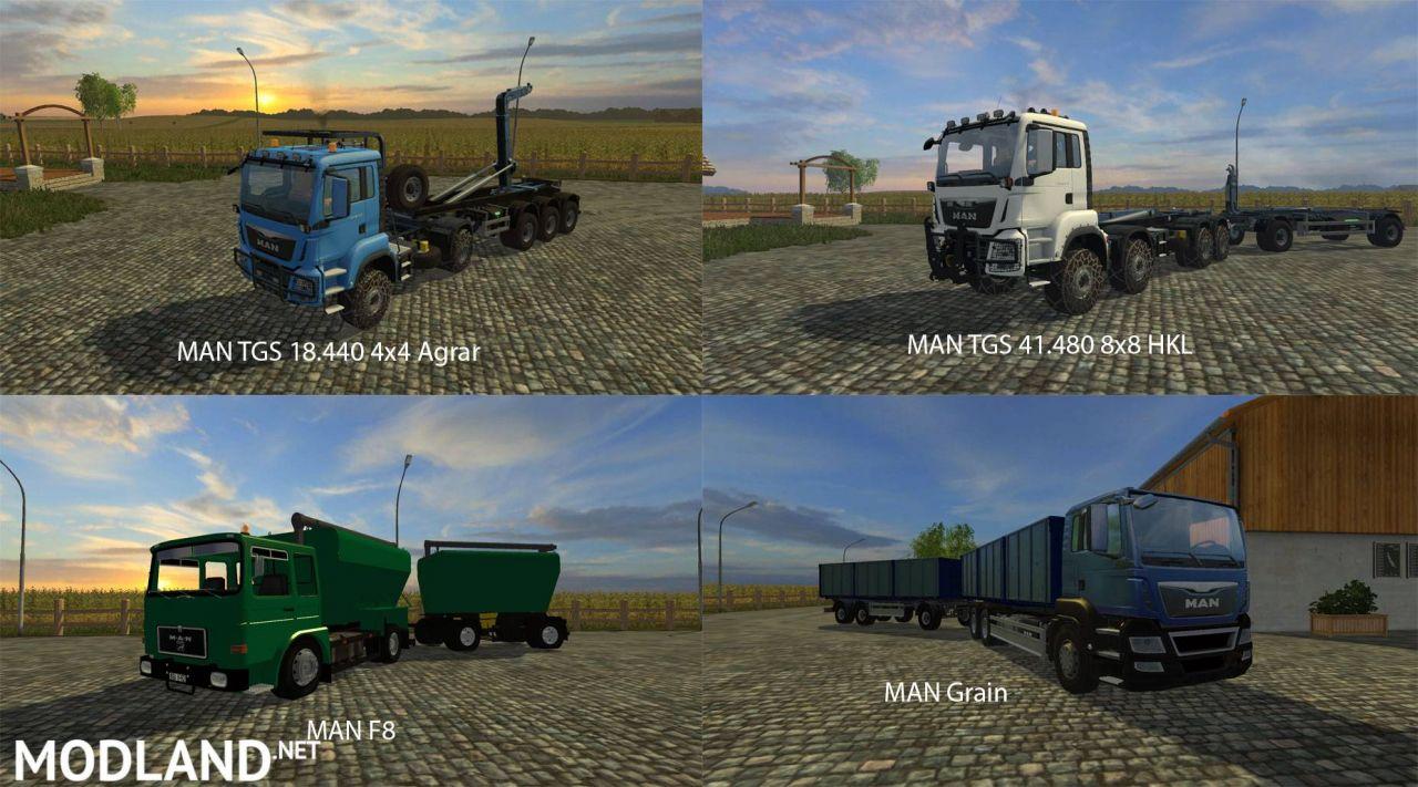 FS15 Big Mods Pack V17 MAN Trucks Pack