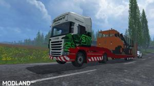 SCANIA R560 + GOLDHOFER STOBART Transport, 4 photo
