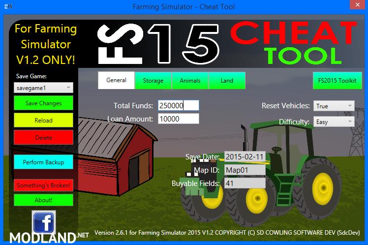 FS2015 Cheat Tool v 2.6.1 For FS 2015