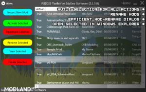 FS2015 Toolkit & Cheat Tool V2.1.0.1, 7 photo