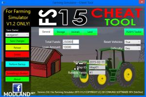 FS2015 Cheat Tool v 2.6.1 For FS 2015 v 1.2, 1 photo