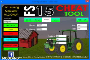 FS2015 Cheat Tool v 2.6.1 For FS 2015 v 1.2, 3 photo