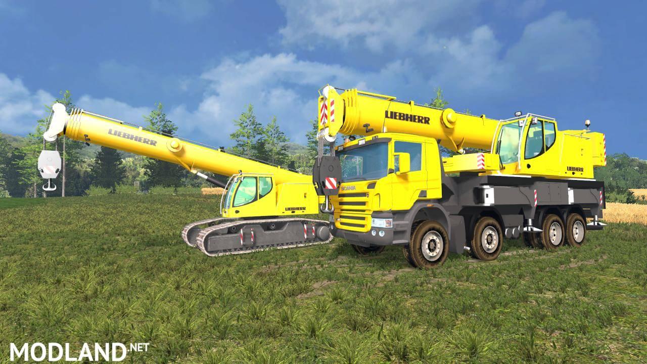 Gt Sport Farming >> Scania Liebherr LTF1060 + Liebherr crawler LTR1060 mod for Farming Simulator 2015 / 15 | FS, LS ...