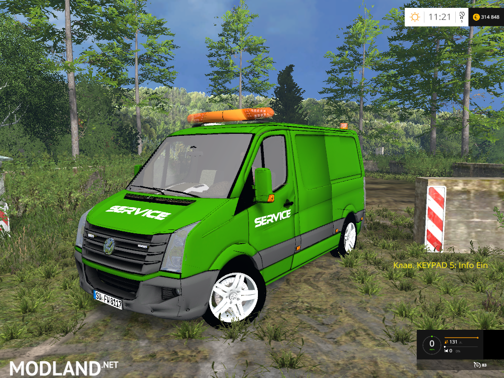 vw crafter service car mod for farming simulator 2015 15 fs ls 2015 mod. Black Bedroom Furniture Sets. Home Design Ideas