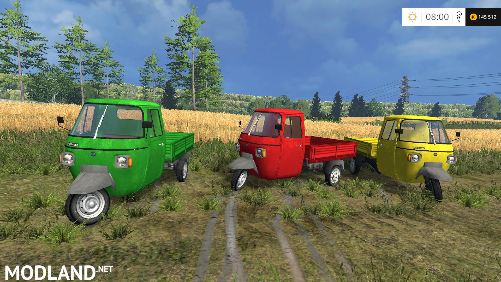 Piaggio Ape P601 Upk V 1 0 Mod For Farming Simulator 2015