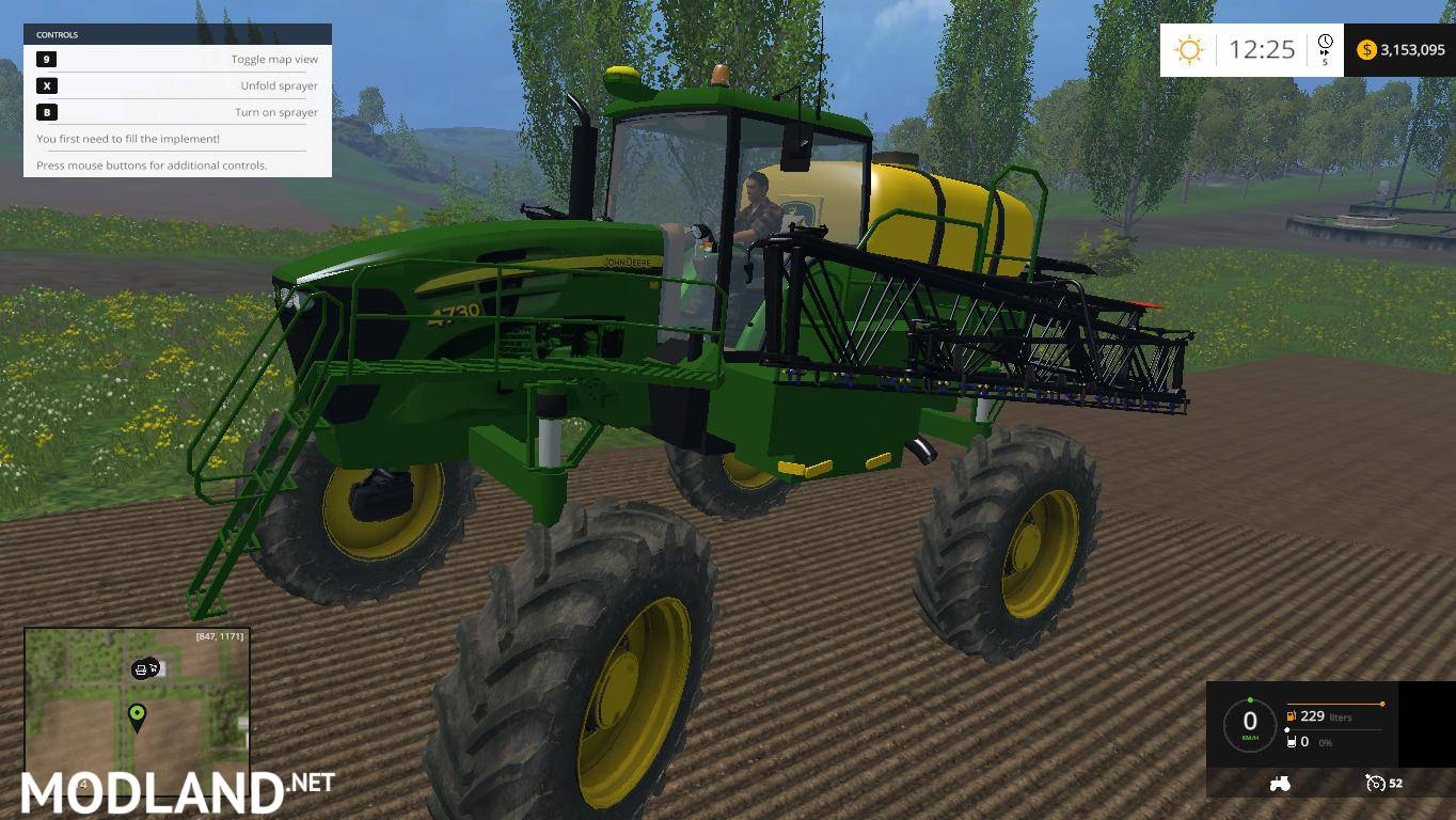 John Deere 4730 Sprayer mod for Farming Simulator 2015 / 15 | FS, LS