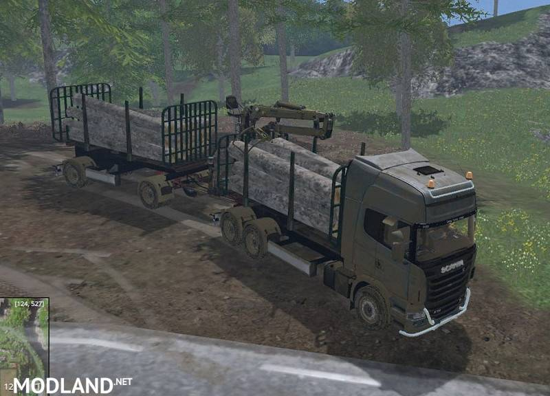 Scania R730 Forest Trailer