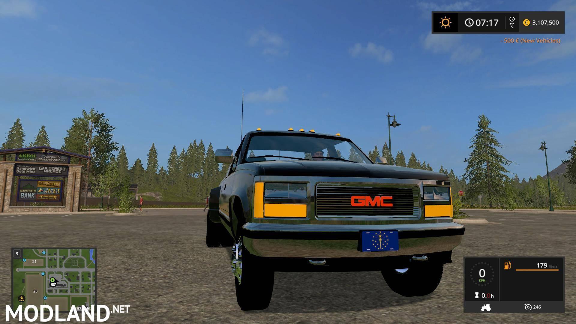 1992 GMC Sierra One Ton Truck v 1.0 mod Farming Simulator 17