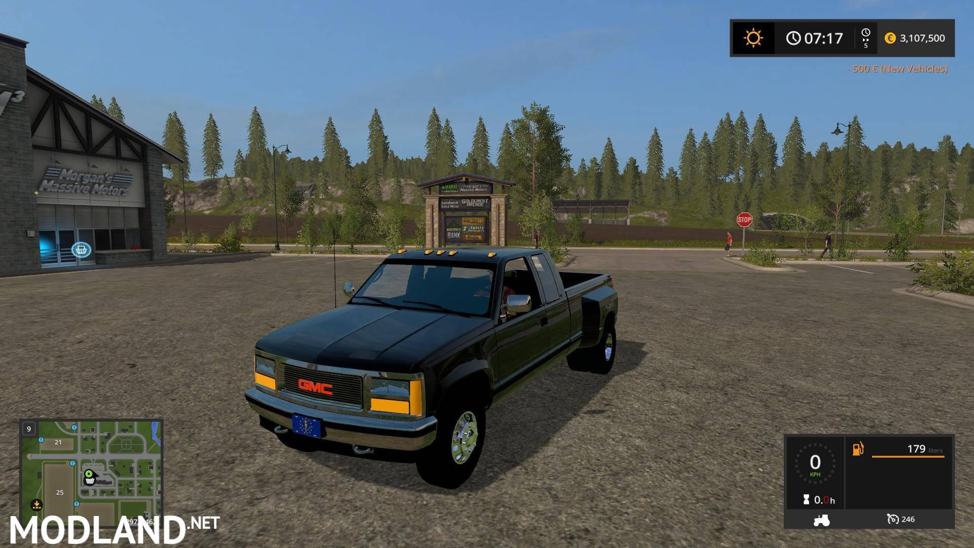 1992 GMC Sierra e Ton Truck v 1 0 mod Farming Simulator 17