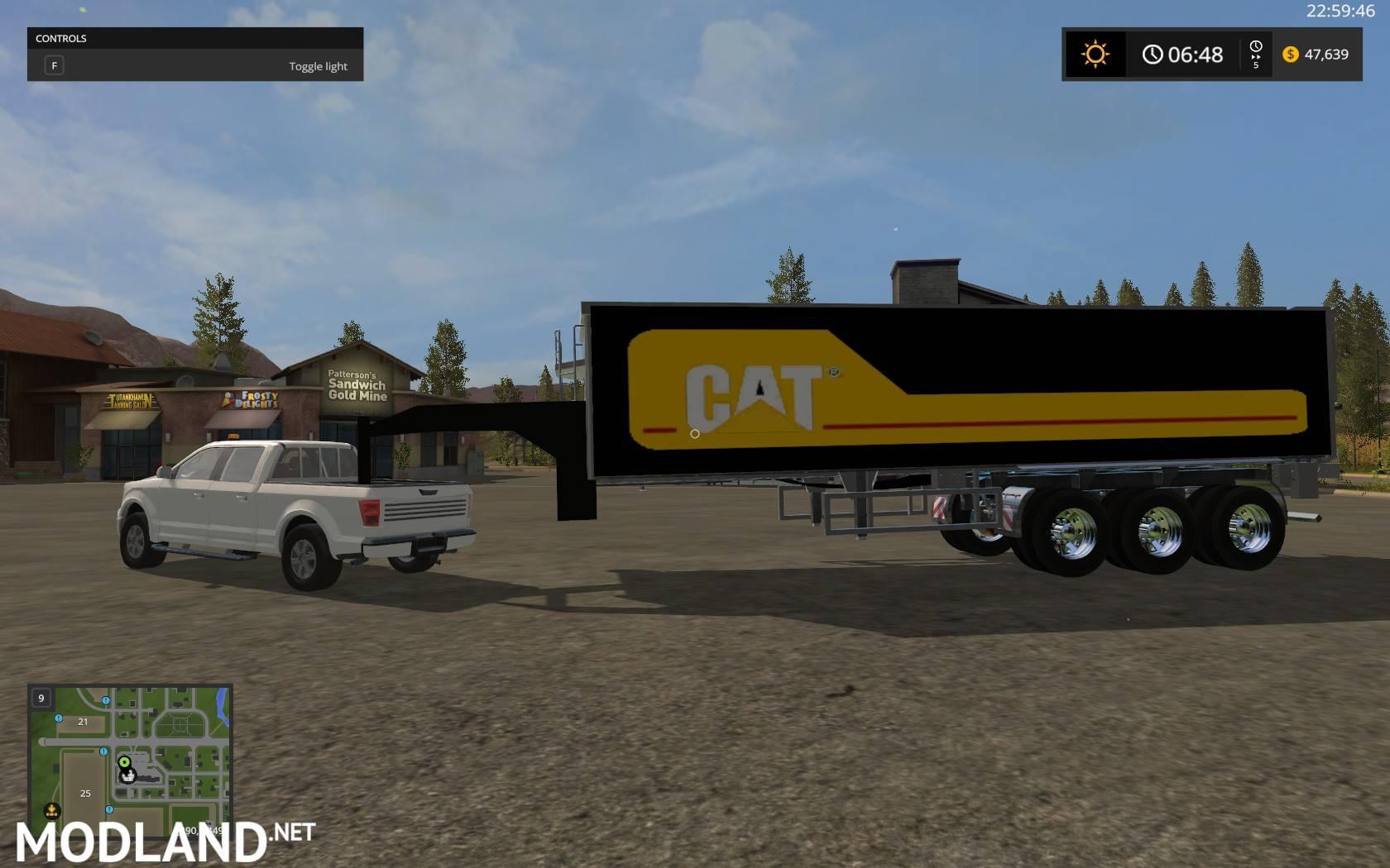 Cat Chrome Trailer Gooseneck Mod Farming Simulator 17