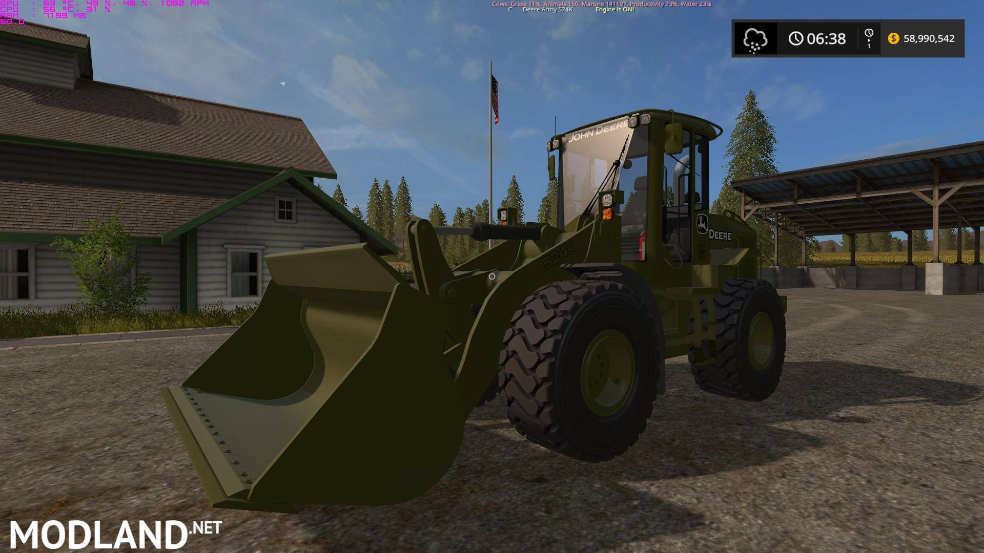 Army John Deere 524k V 1 0 Mod Farming Simulator 17