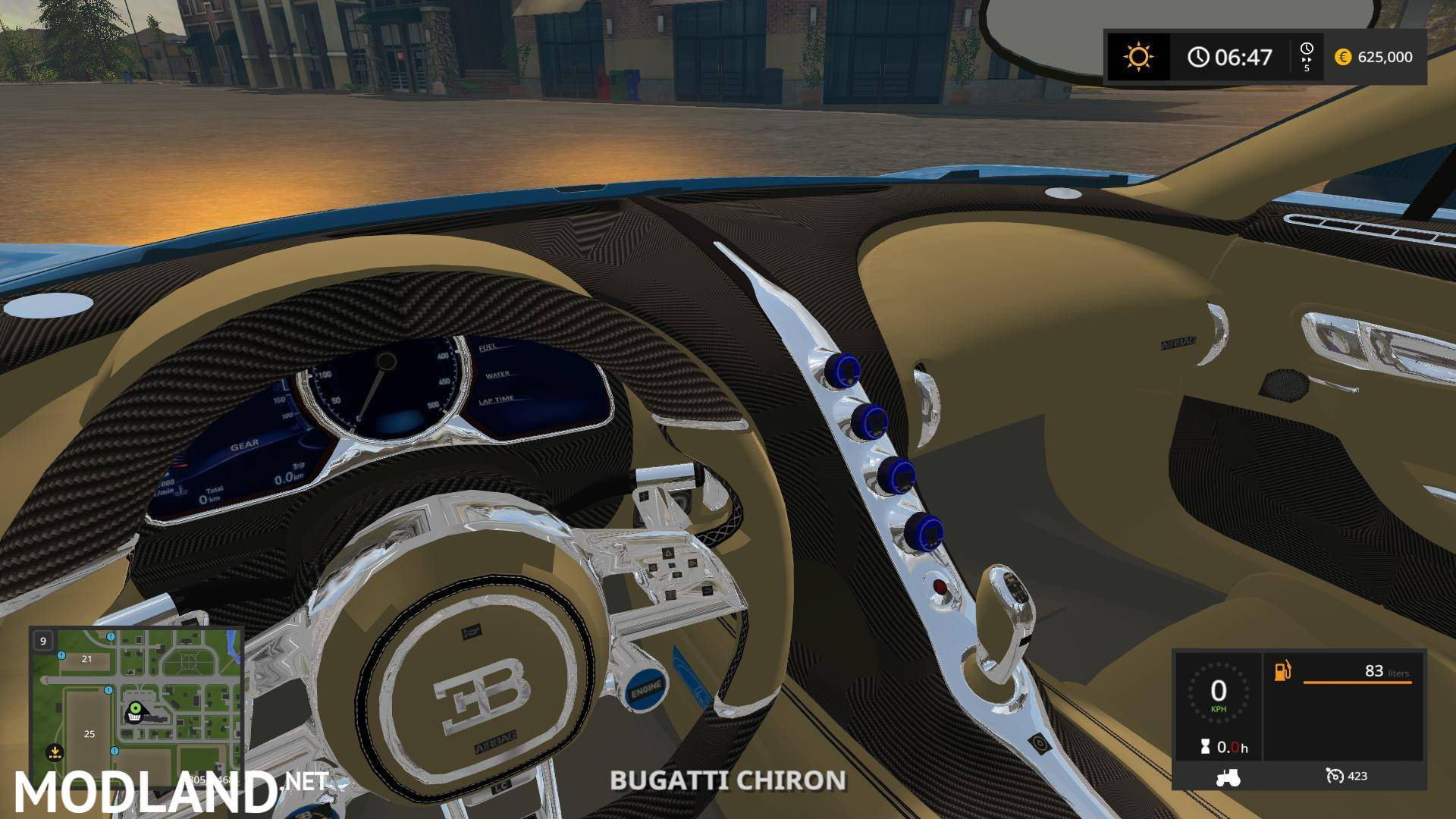 bugatti chiron v 1 0 mod farming simulator 17. Black Bedroom Furniture Sets. Home Design Ideas