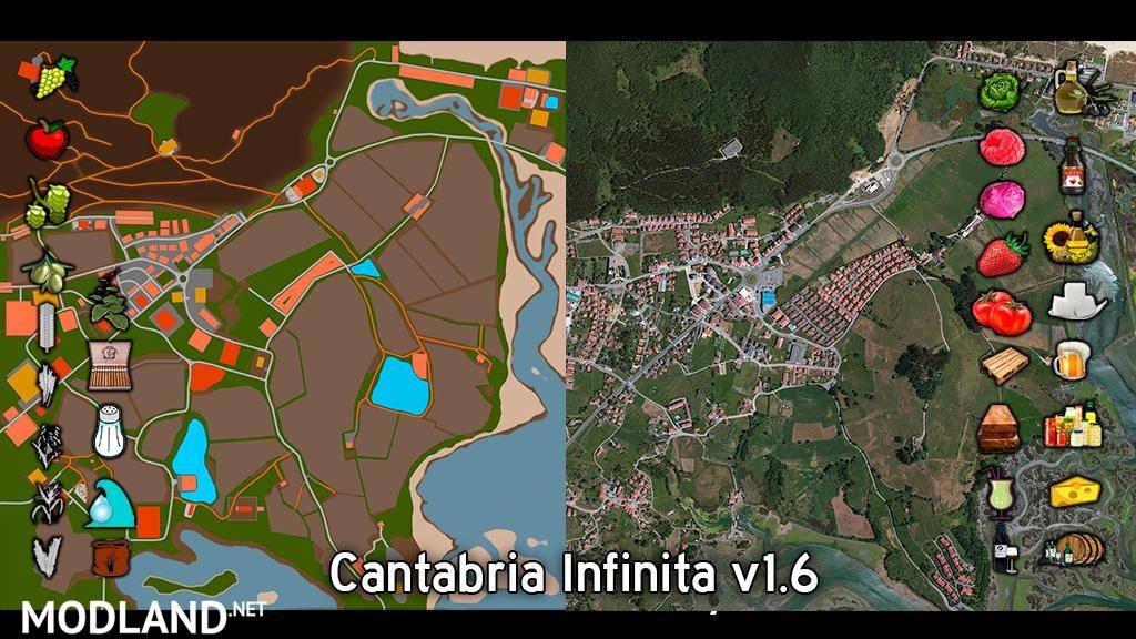 cantabria infinita map v 1 6 mod farming simulator 17. Black Bedroom Furniture Sets. Home Design Ideas