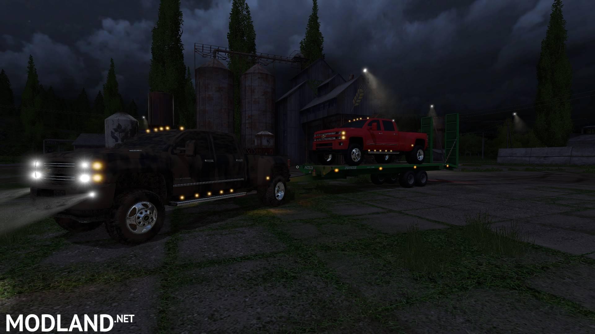 End Dump Truck >> Chevy Silverado 3500HD V1.1 mod Farming Simulator 17