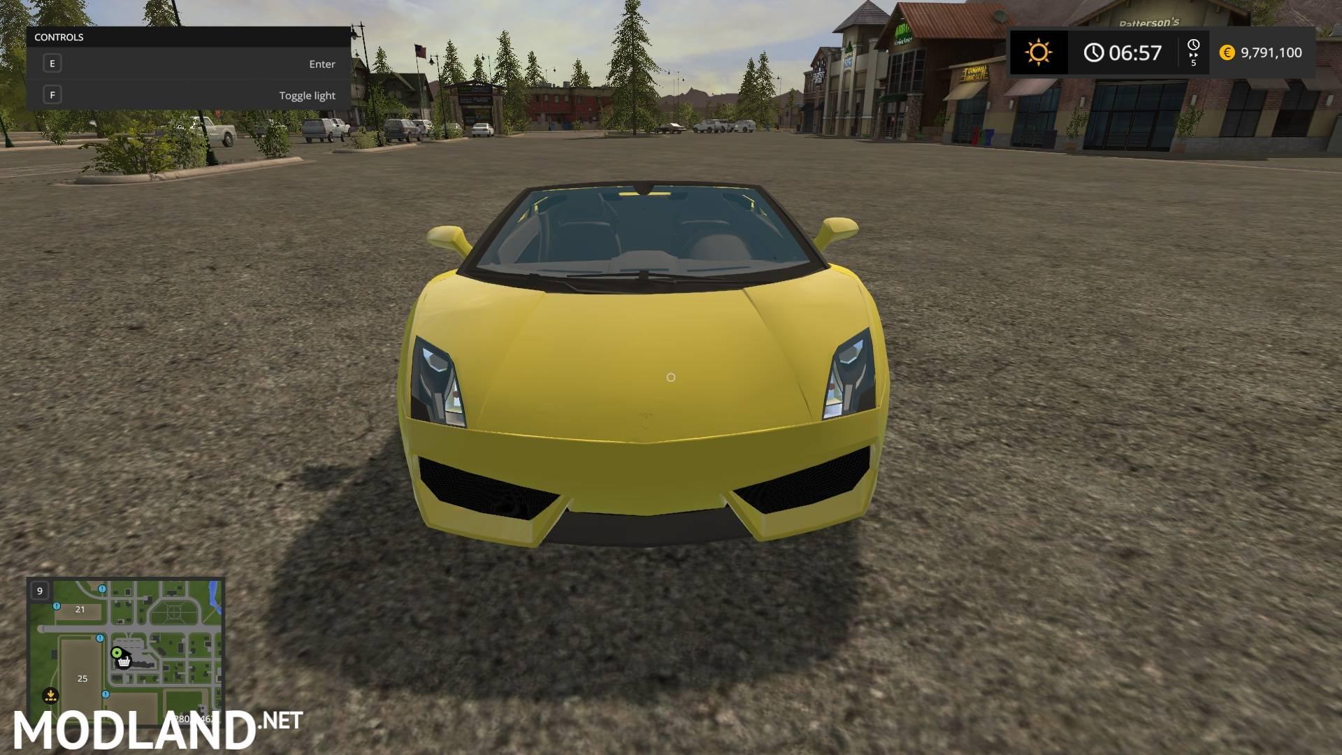 Lamborghini Gallardo mod Farming Simulator 17