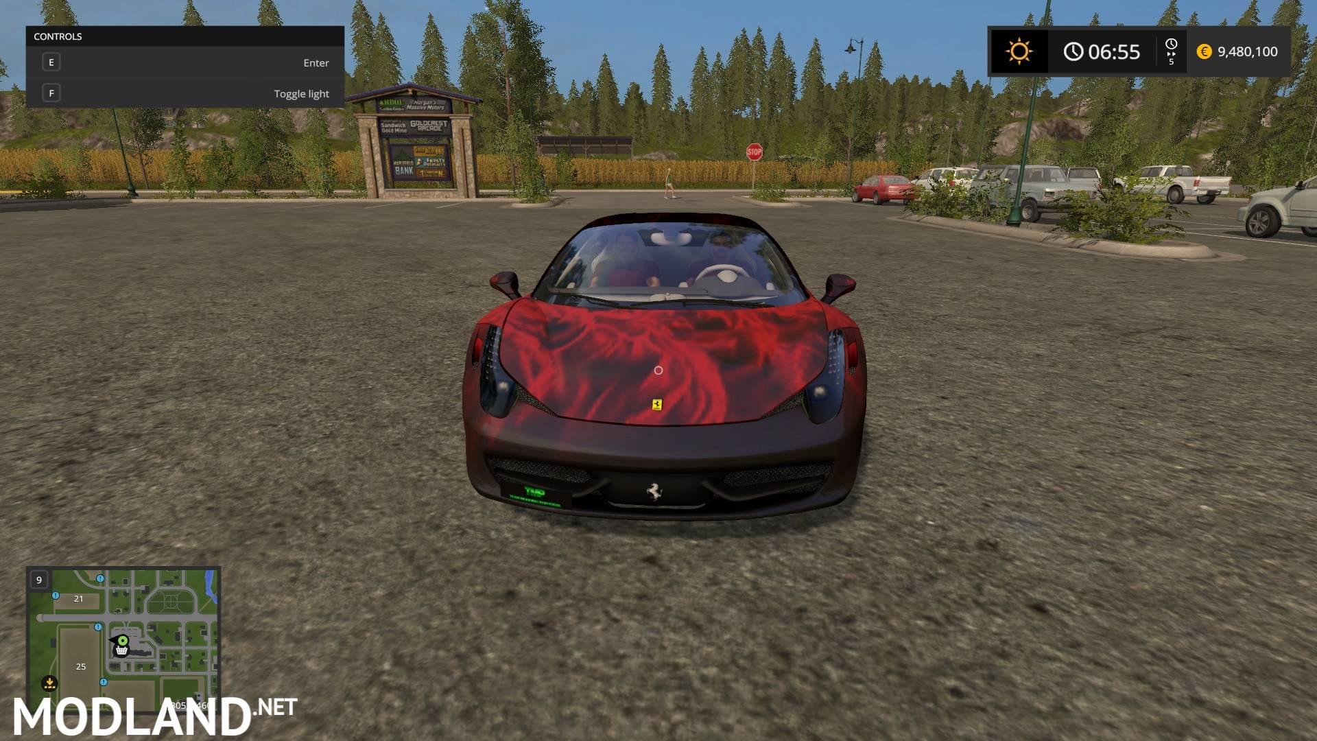 Ferrari 458 Italia Fireskin V2 Mod Farming Simulator 17