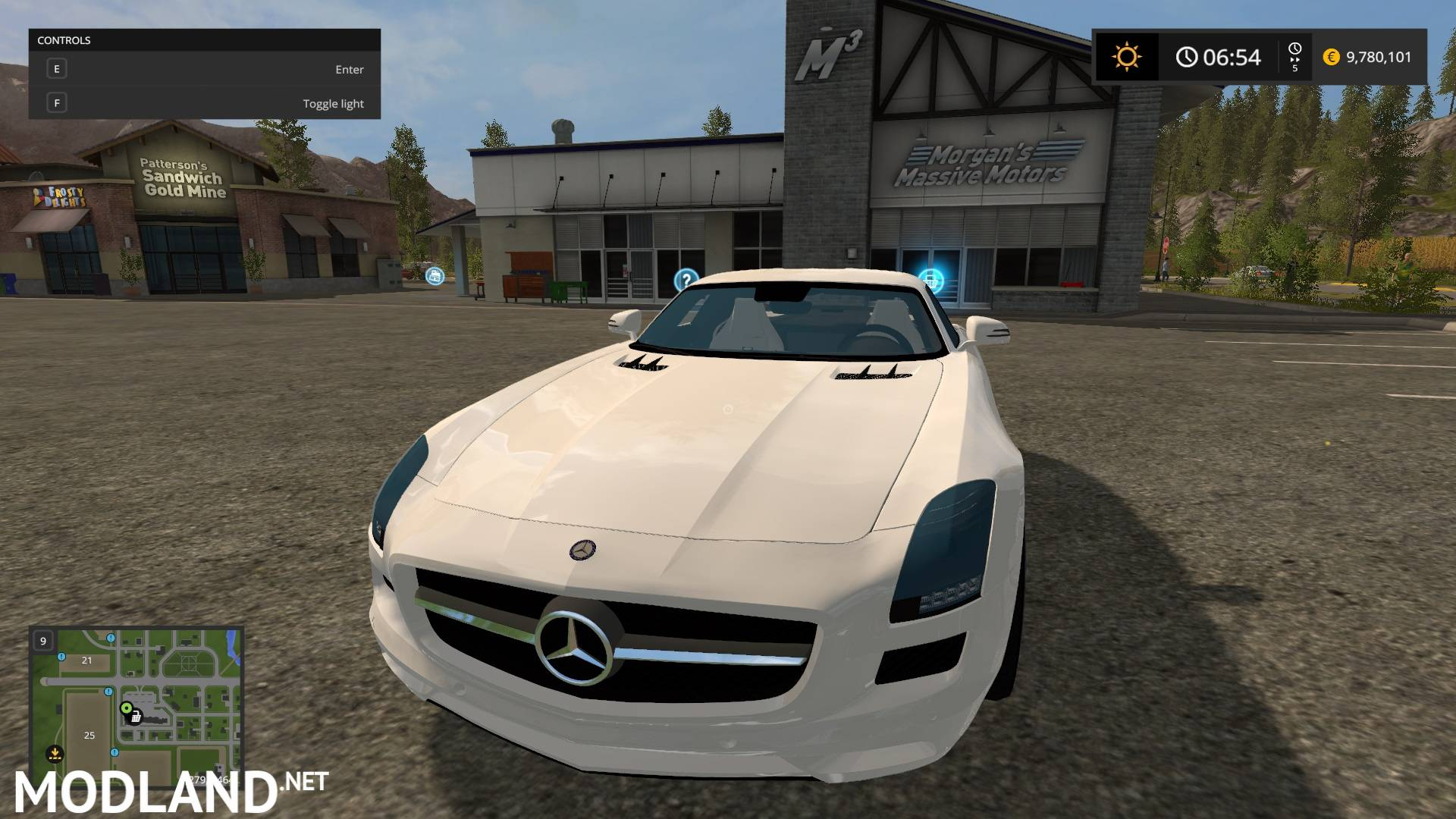 mercedes sls amg v mod farming simulator 17. Black Bedroom Furniture Sets. Home Design Ideas