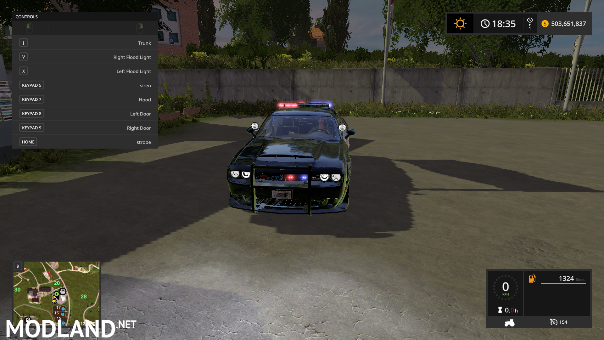 FS17 Dodge Demon Police mod Farming Simulator 17