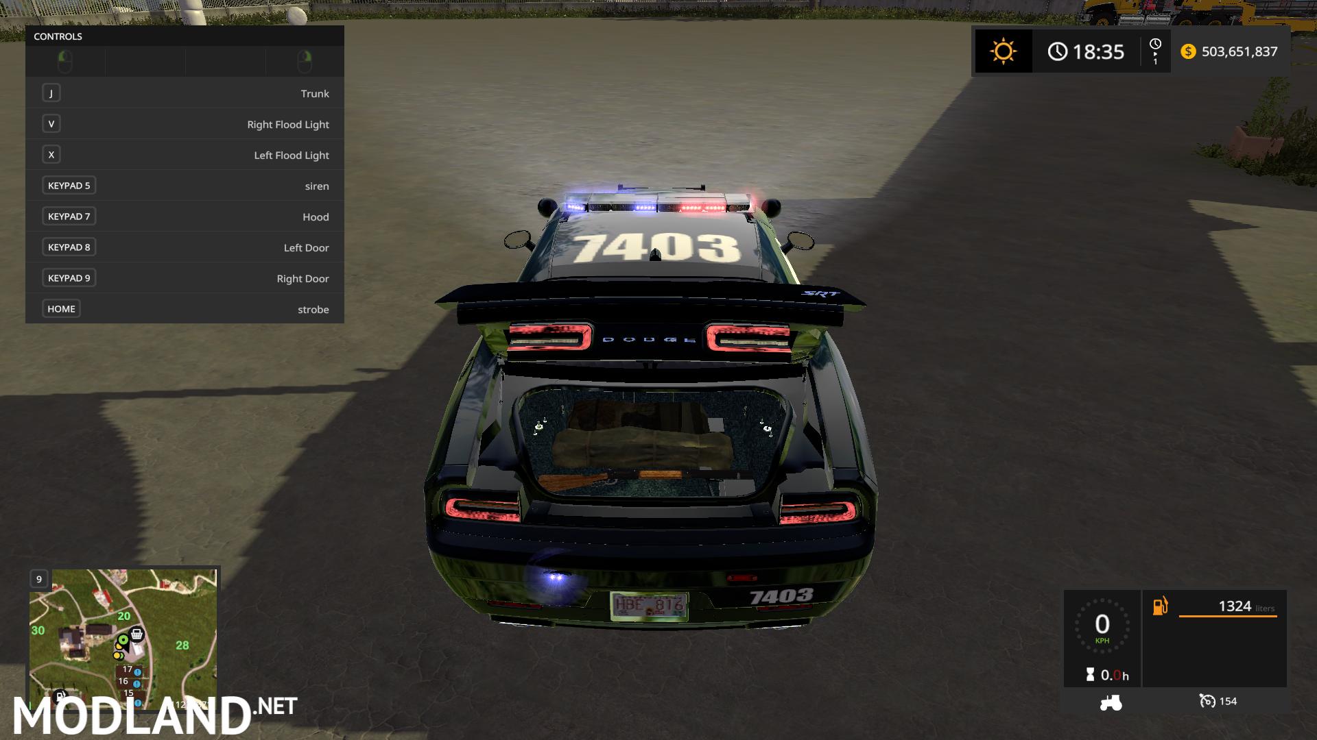Fs17 Dodge Demon Police Mod Farming Simulator 17