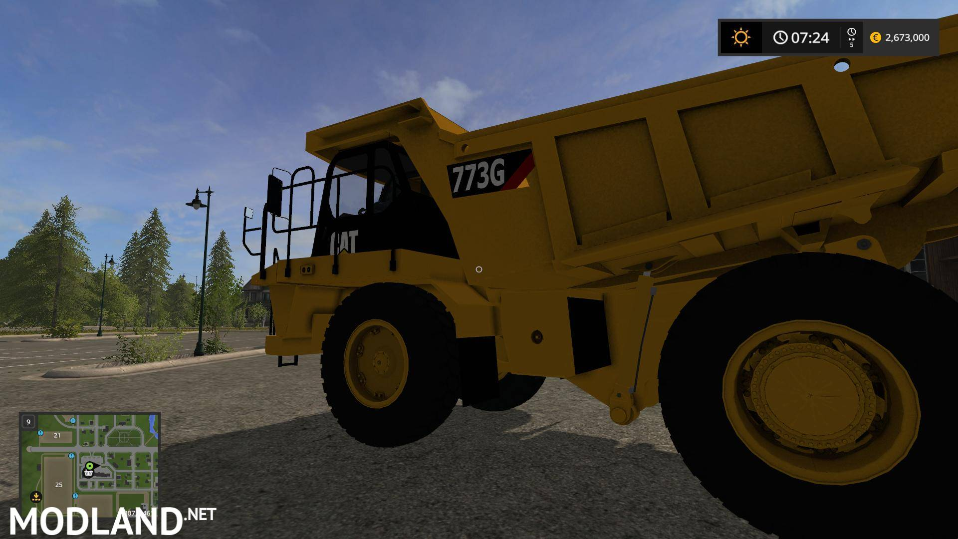 CAT 773G V 1.2 Mod Farming Simulator 17