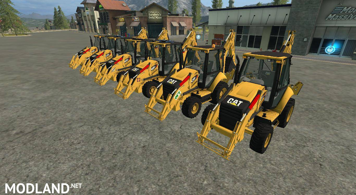 CAT Backhoe 420F v 1 0 mod Farming Simulator 17