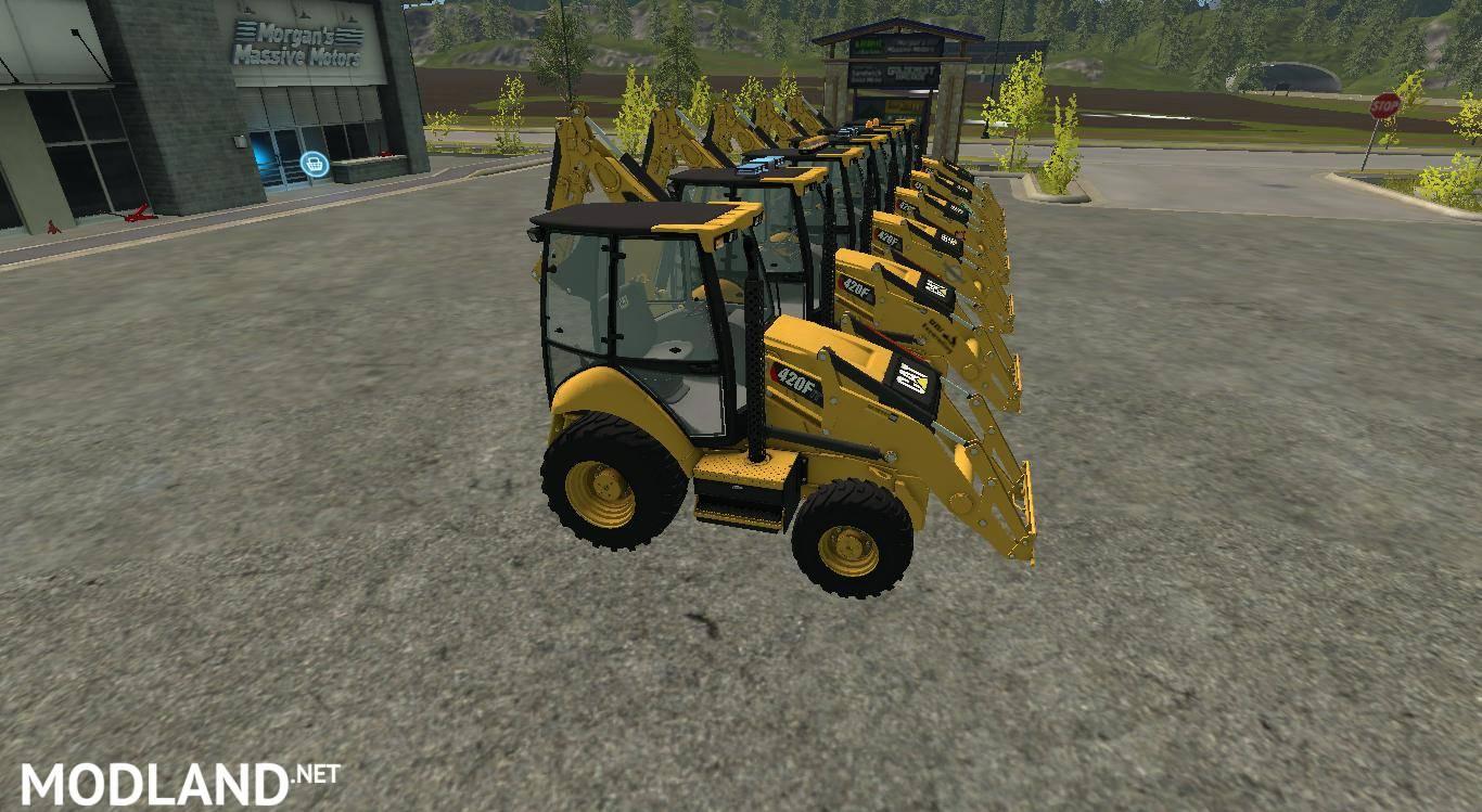 CAT Backhoe 420F v 1 0 mod Farming Simulator 17