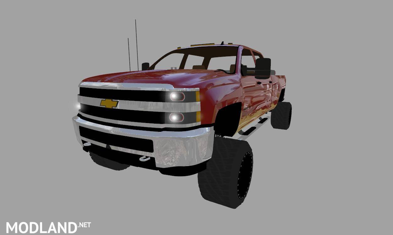 Chevy Silverado 3500HD Duramax v 1.0 mod Farming Simulator 17