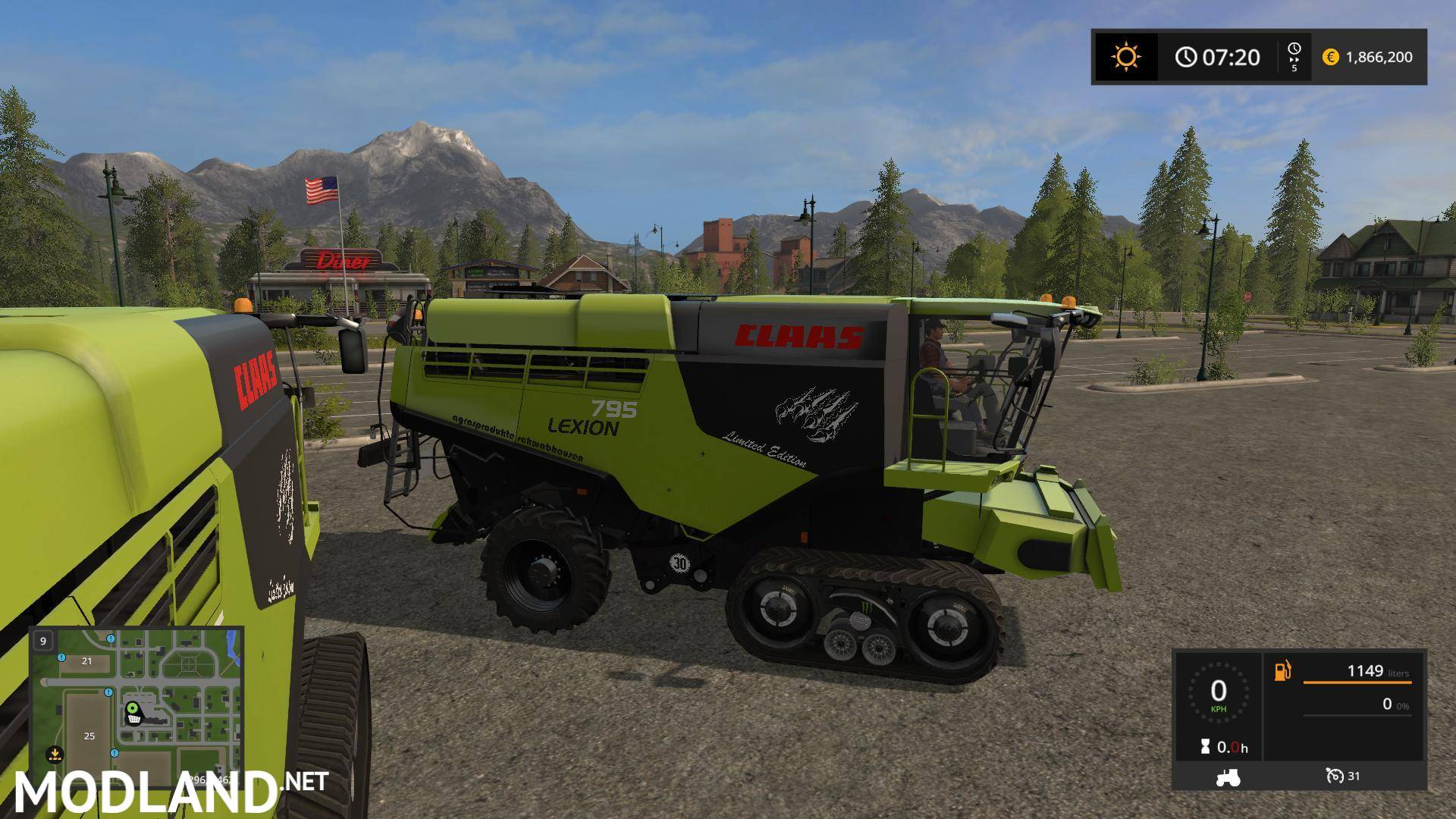 claas lexion 795 monster v 1 0 mod farming simulator 17. Black Bedroom Furniture Sets. Home Design Ideas