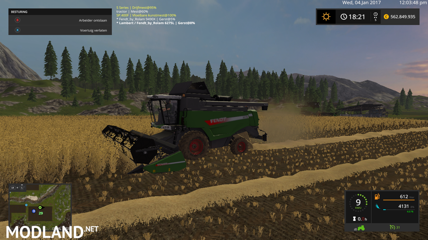 Fendt Harvester Higher Capacity V 1 0 X mod Farming Simulator 17