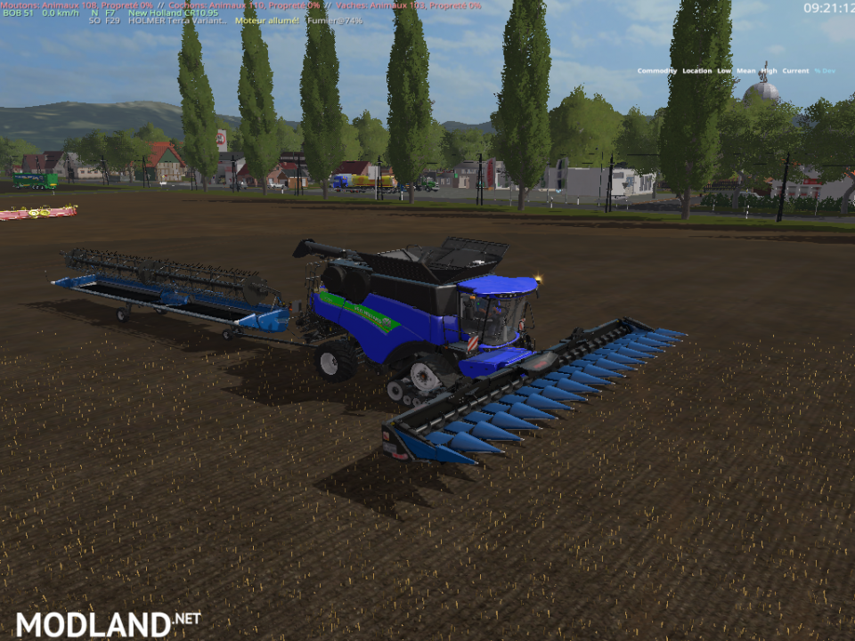 New Holland CR1095 blue+cutter Edit v 2.0 (RETRAVAILLER BY: BOB 51160)