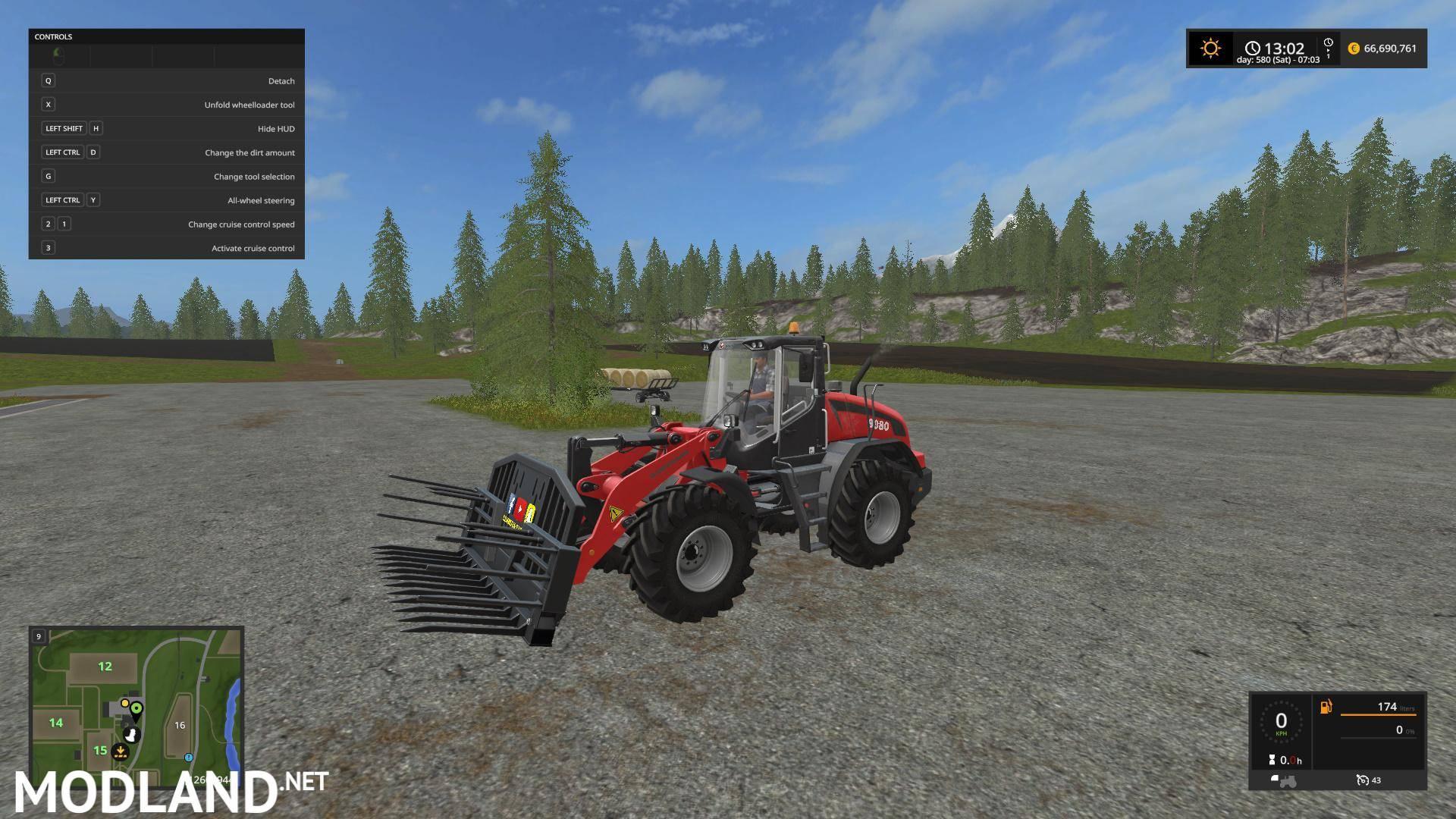 Eemhuus Silage fork v 1 0 mod Farming Simulator 17