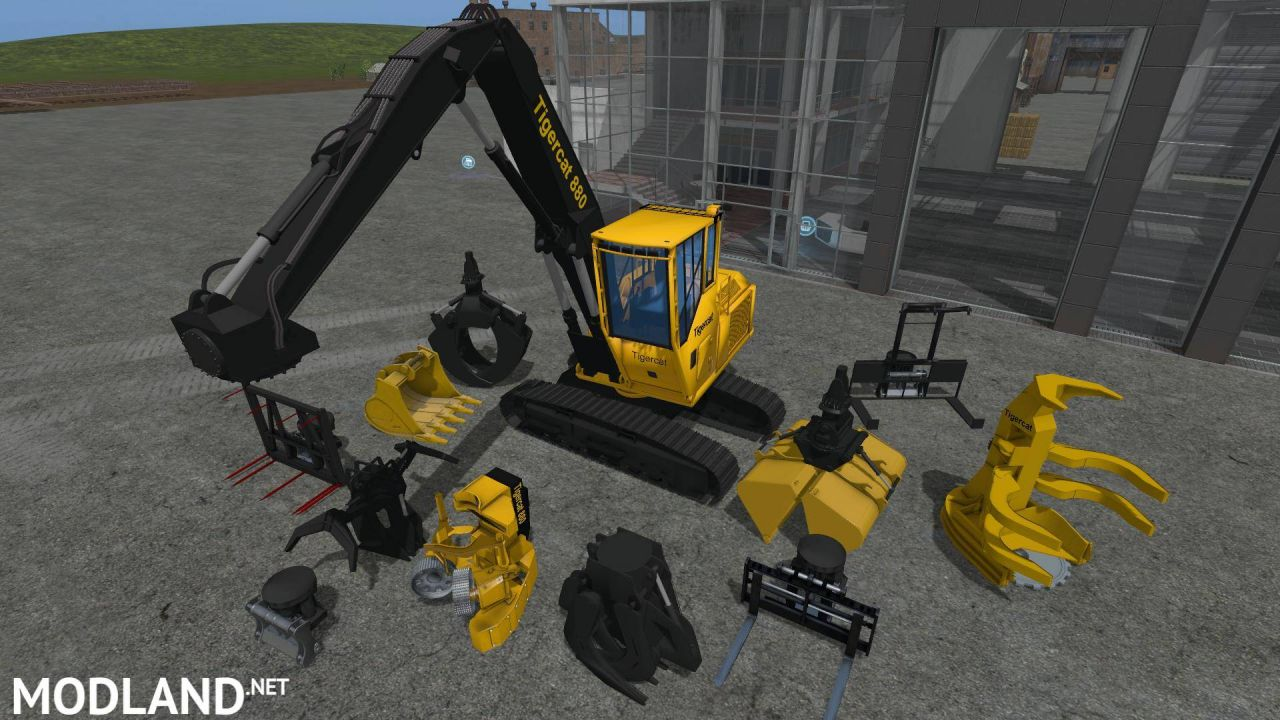 Tigercat 880 with tools