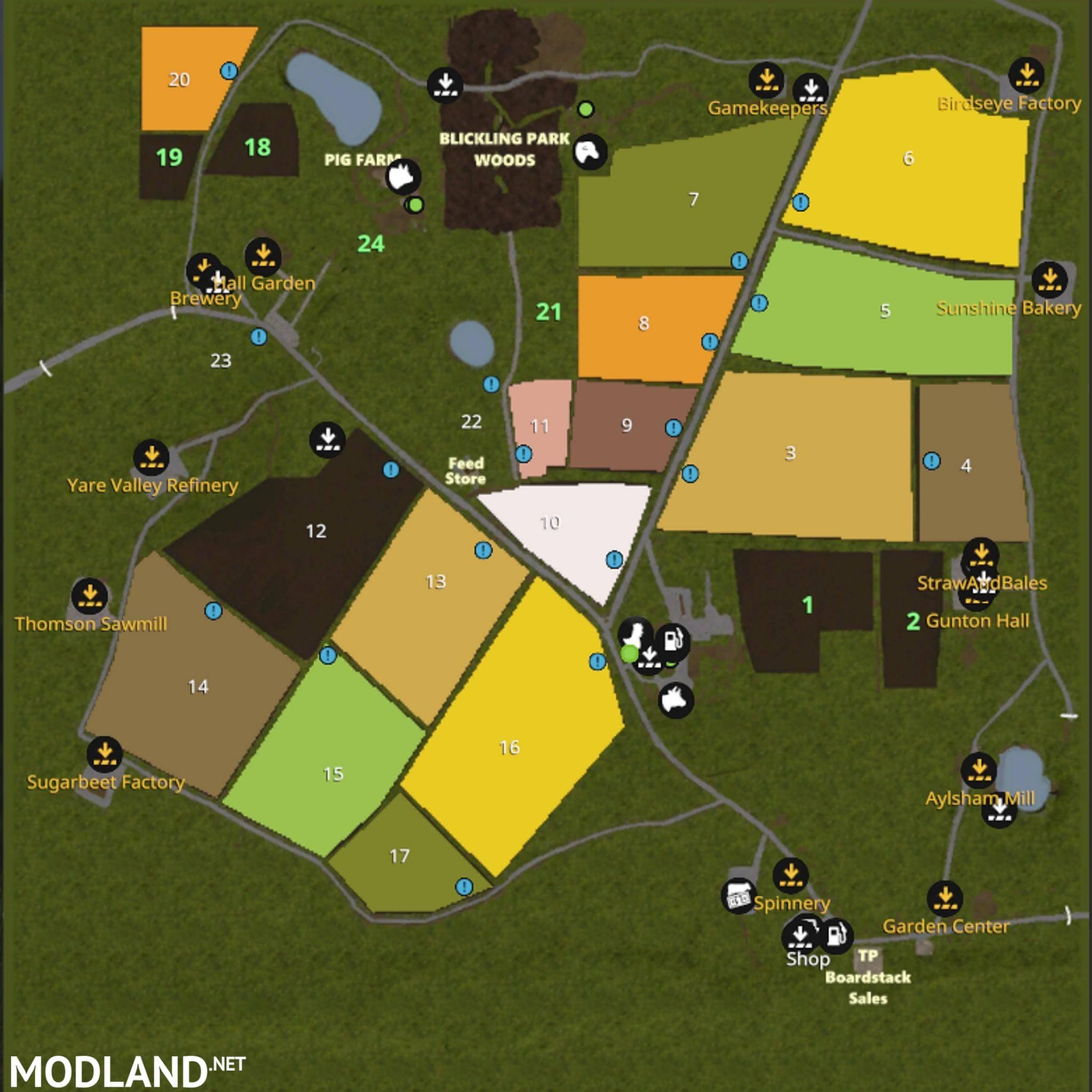 FS17 Blickling Map v 20 mod Farming Simulator 17