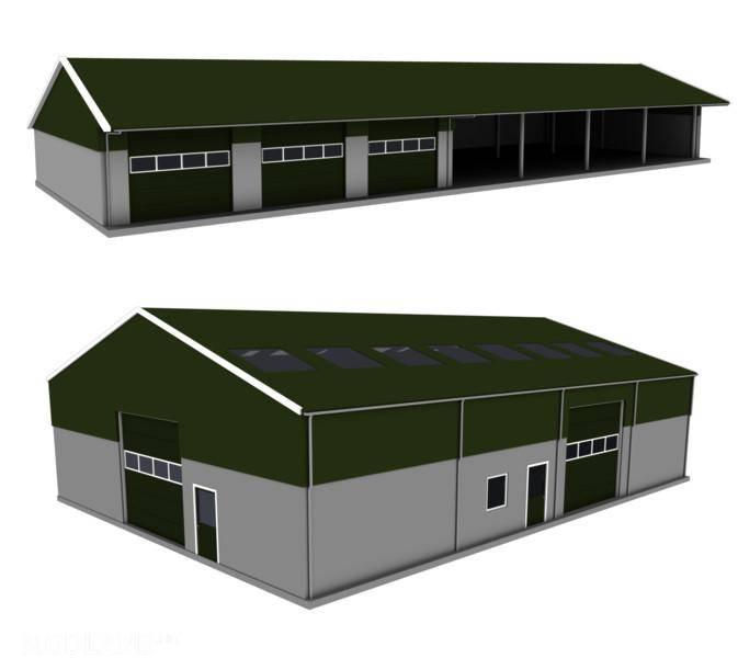 Fs17 Halls Pack With Doors V 1 0 Mod Farming Simulator 17