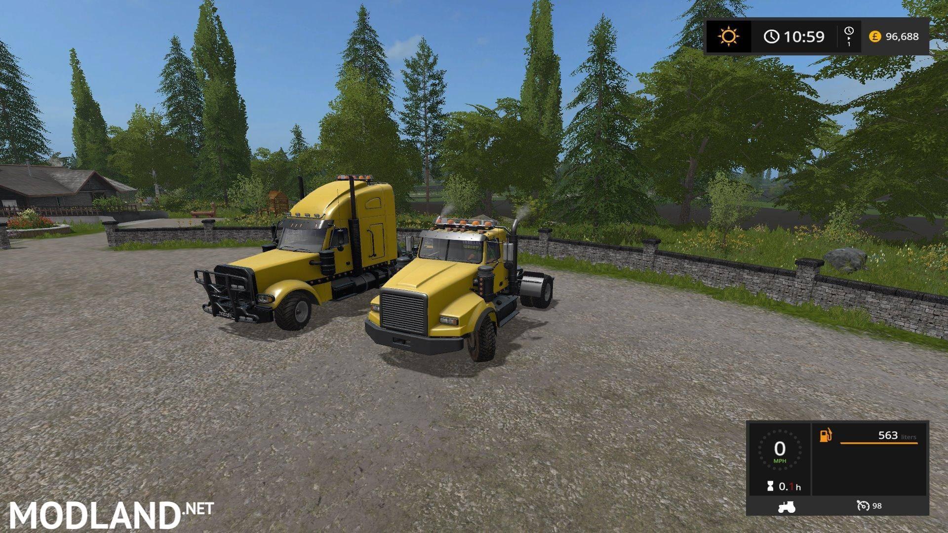 FS17 USA trucks updated by Stevie mod Farming Simulator 17