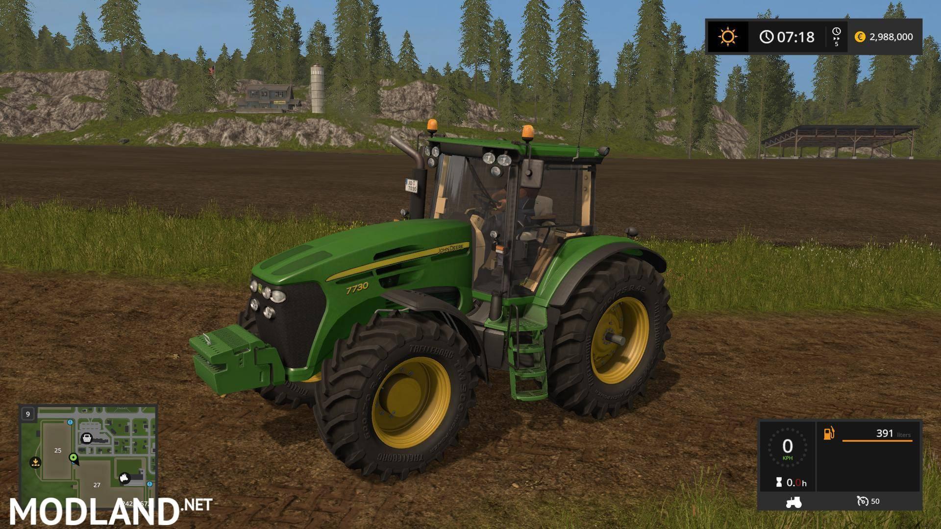 John Deere 7030 Series V 2 2 2 Mod Farming Simulator 17