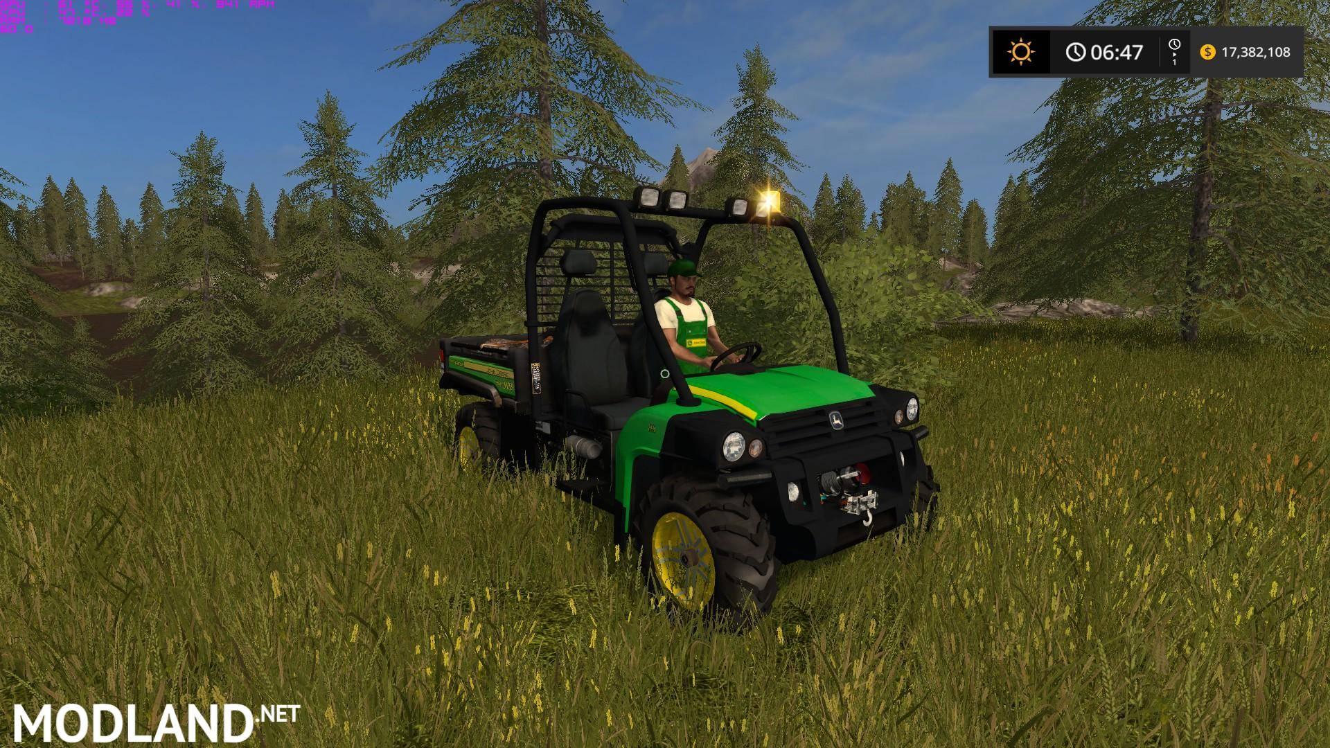 john deere gator hpx diesel mod farming simulator 17. Black Bedroom Furniture Sets. Home Design Ideas