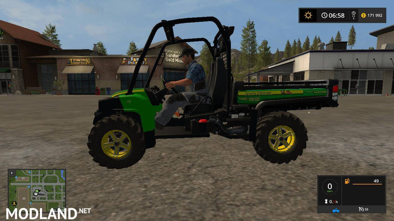 john deere hpx gator v 1 1 0 mod farming simulator 17. Black Bedroom Furniture Sets. Home Design Ideas