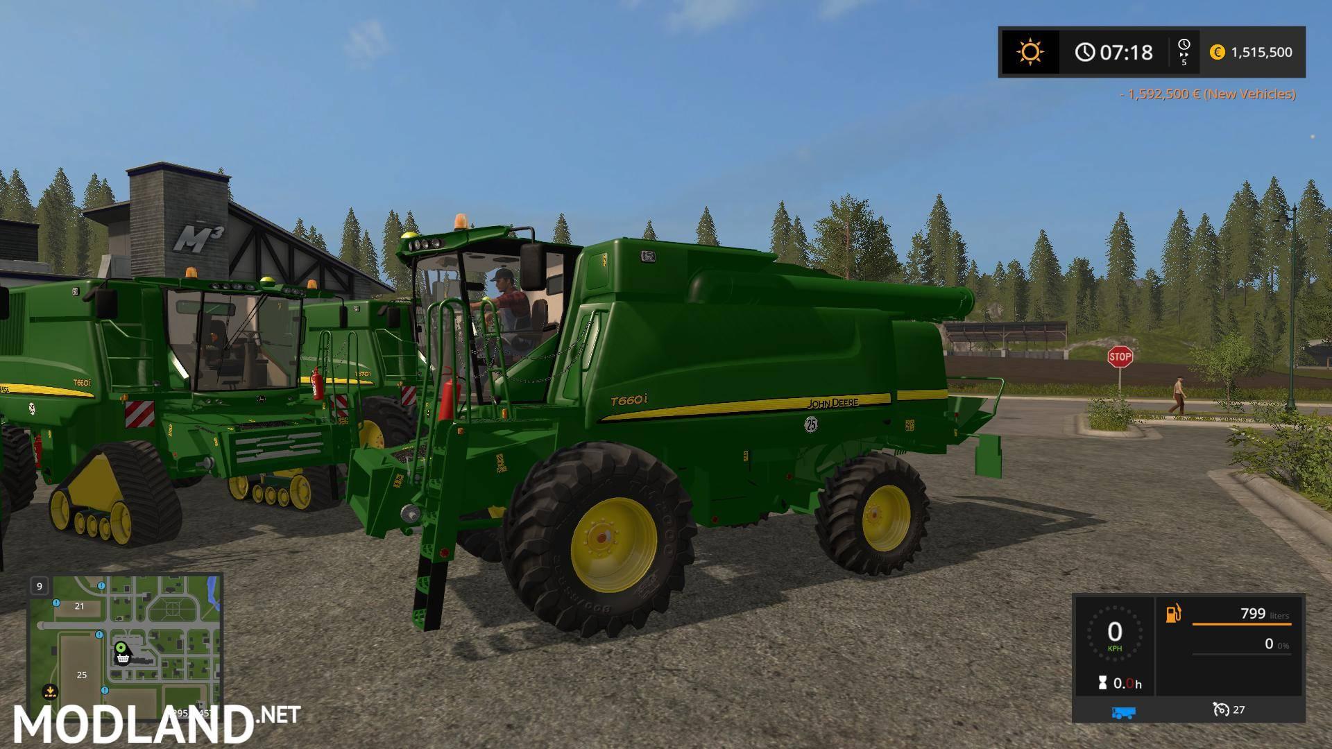 John Deere T660i/T670i Dynamichose Final mod Farming Simulator 17