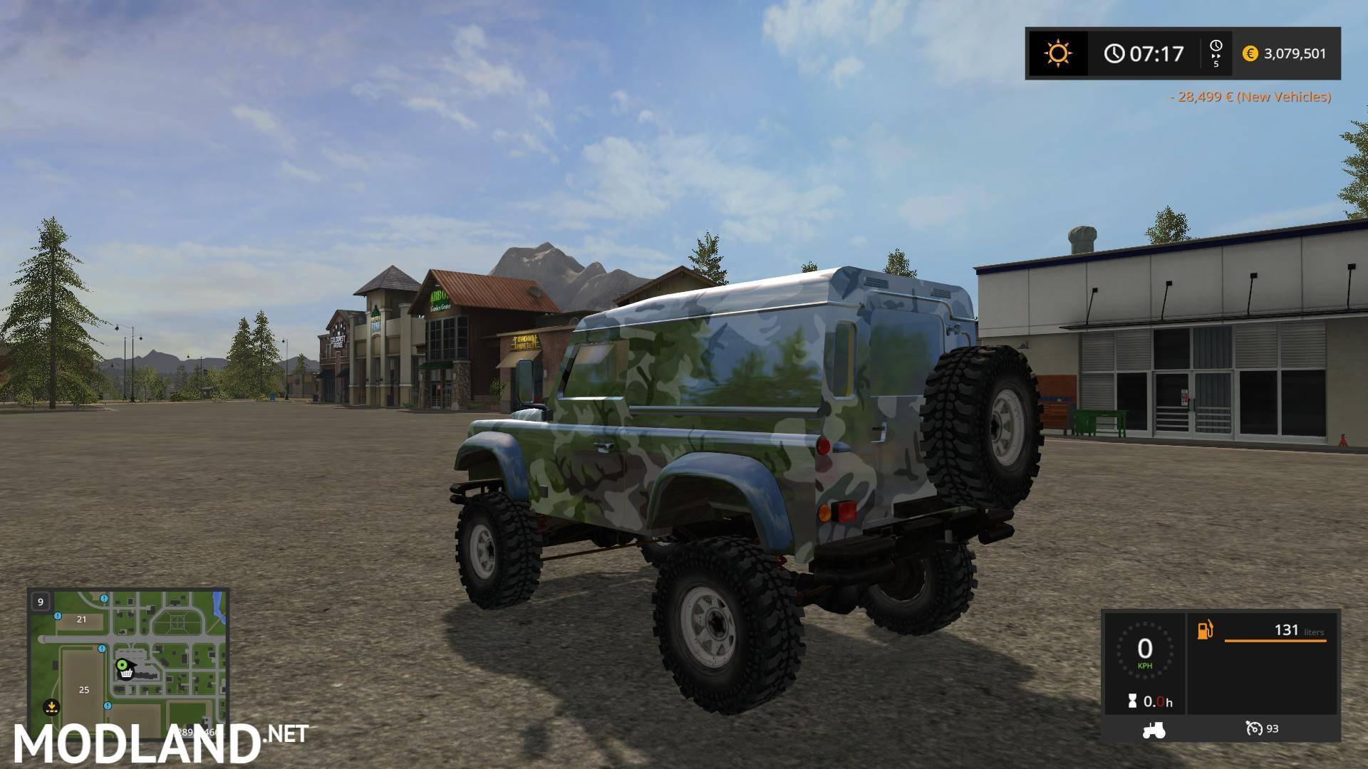 Ford F350 King Ranch >> Land rover defender 90 v 1.0 mod Farming Simulator 17